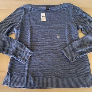 NWT Ann Taylor Factory Crewneck Blue Sweater